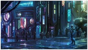 Cyberpunk RTS game